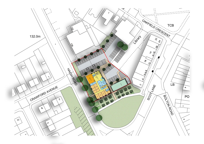 Aspull Health and Wellbeing Village site plan